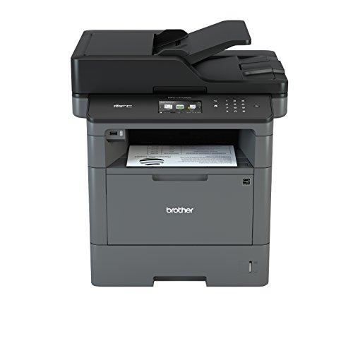 Brother MFCL5700DN Multifunktions-Laserdrucker mit Fax, weiß und schwarz, Druckgeschwindigkeit 40 ppm, Netzwerk verdrahtet (kein WLAN), automatischer beidseitiger Druck, Farb-Touchscreen 9,3 cm