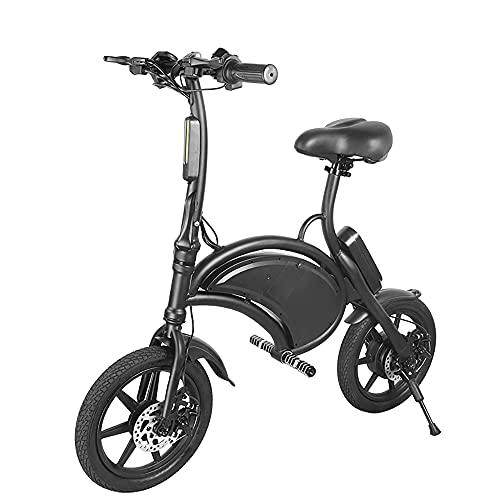 Bicicletta elettrica pieghevole da 14 pollici E-Bike Scooter 350W Potente motore impermeabile Ebike con portata di 15 miglia