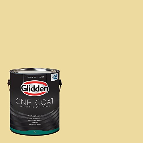 Glidden Interior Paint + Primer: Yellow Interior Paint /Demeter, One Coat, Flat, 1 Gallon