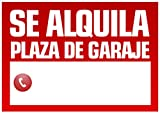 Wayshop | Cartel Se Alquila Plaza de Garaje | Medidas 50cm x 70cm | Fabricado en Polipropileno 3mm de Grosor.