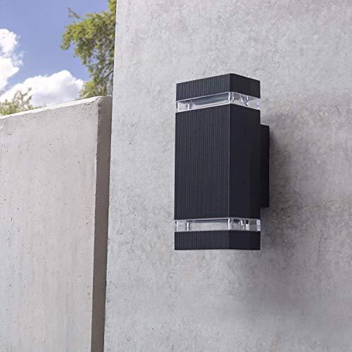 YYSDH 2020 LED Außenwandleuchte Up Down Mit GU10 LED 7/14W Warmweiß 220V - Wandleuchte Schwarz IP54 Für Garten Terrasse [Energieklasse A+],Schwarz,7W