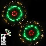 Luces Fuegos Artificiales Cadena de luces de Alambre Luces de Navidad Exterior Luces Decorativas LED para Fiestas Boda y Casa