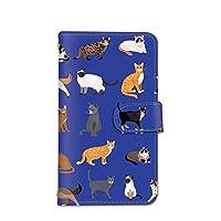seventwo iPhone11 iPhone 11 スマホケース 手帳型 携帯ケース カードホルダー アイフォン イレブン 【C.ブルー】 猫 子猫 アニマル animal_034