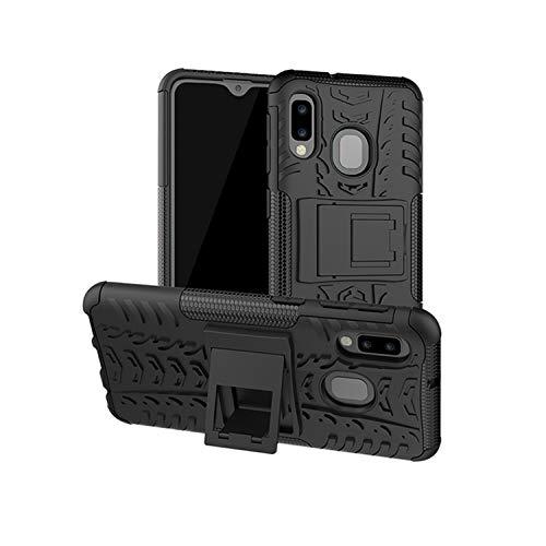 betterfon | Outdoor Handy Tasche Hybrid Case Schutz Hülle Panzer TPU Silikon Hard Cover Bumper für Samsung Galaxy A20e SM-A202 Schwarz