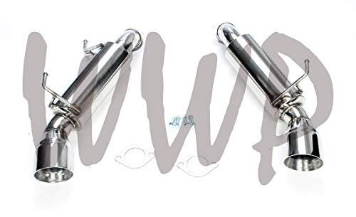 "Performance Stainless Steel SS409 Dual Axle Back Exhaust Muffler System Kit With 4.5"" Polished Tips Compatible With 09-20 Nissan 370Z Nismo & Infiniti G37 Coupe 3.7L V6"