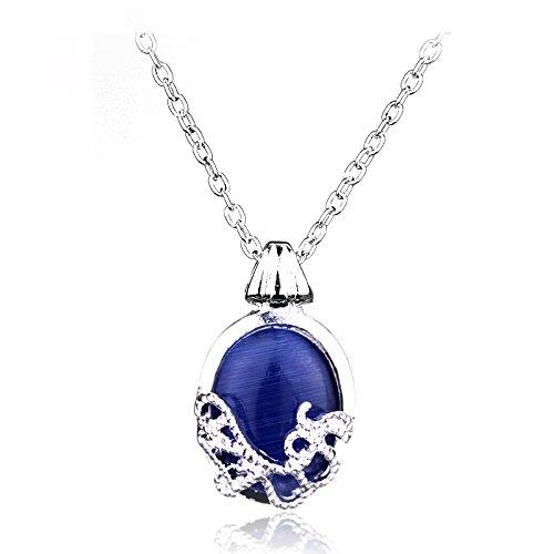 The Vampire Diaries Katherine placcato argento donne collana pietre naturali gioielli anti raggi solari amuleto Ciondolo