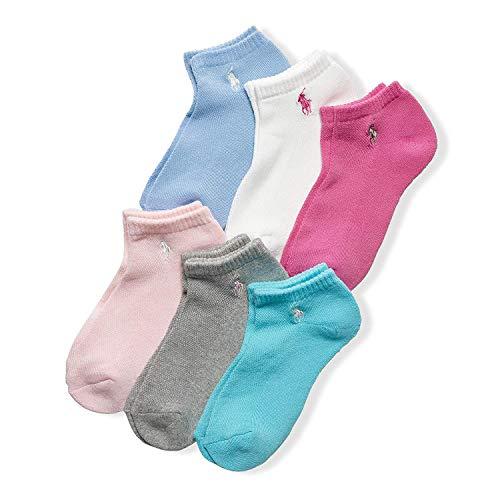 Ralph Lauren Women s Cushion Sole Mesh Top Low Cut 6 Pack, Size: 9-11 (US Women s size 4-10.5), Pastels Assorted