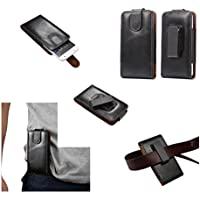 DFV mobile - Funda Premium de Cinturon con Clip Giratorio 360º Piel Autentica para WOXTER ZIELO Z-500 - Negra