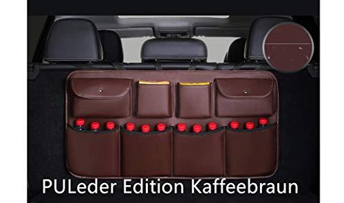 KaBurger® - Bolsa de Almacenamiento para el Maletero del Coche, Bolsa organizadora para Todos los Tipos de sedán, portón Trasero, SUV/MVP(edición de Piel sintética)
