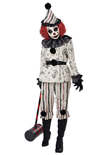 Adult Creeper Clown Costume Small White