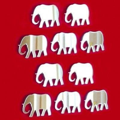 ServeWell décoratifs Mini éléphant Murale miroirs – Bundle de Dix