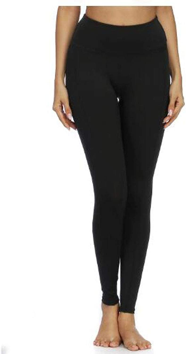 High Waist Yoga Pants, Pockets, Tummy Control, Women's Fitness Pants 4 Way Stretch Yoga Tights with Pockets,S
