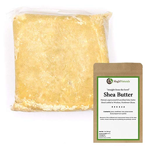 MagJo Naturals Unrefined African Shea Butter, Pure & Raw Moisturizing and Rich Body Butter Suitable for All Skin Types Great for Whipped Body Butters or stand alone (Ivory, 1 pound)