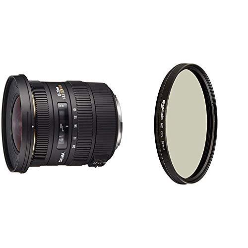 Sigma 10-20 mm F3,5 EX DC HSM-Objektiv (82 mm Filtergewinde, für Canon Objektivbajonett) & AmazonBasics Zirkularer Polarisationsfilter - 82mm