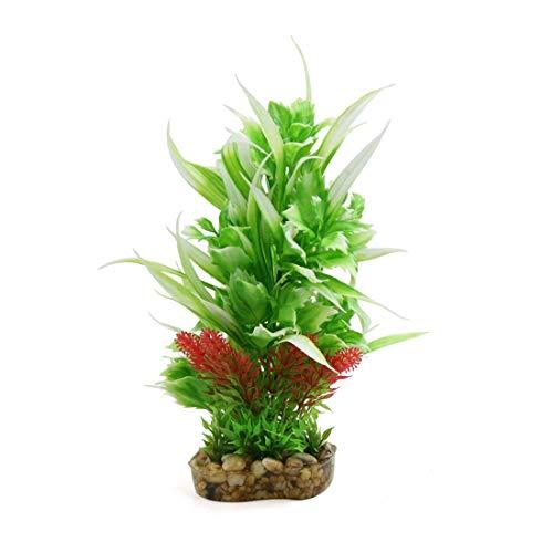 CENPEN Acuario plástico del tanque terrario decorativo Planta Hábitat Decoración for reptiles y anfibios