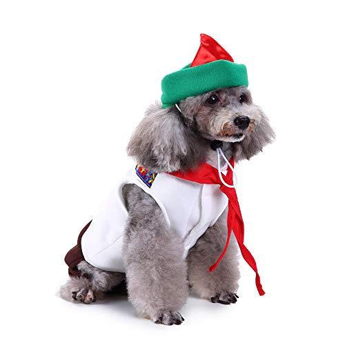 Amakunft Oktoberfest Sweety Haustier Anzug mit Hut Hund Party Kostüm Festival Puppy Kleid Kleidung mit Schleife & Spitze für Weihnachten