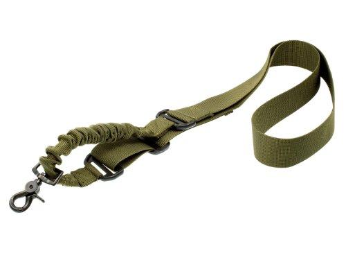 BEGADI 1 Punkt Bungee Sling/Gewehrgurt mit Schnellverschluss & Elastikeinsatz - Olive