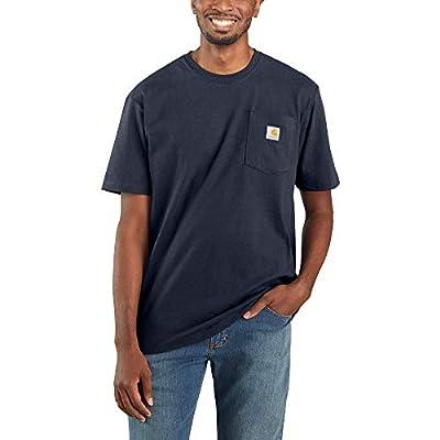 Carhartt Men's K87 Workwear Short Sleeve T-Shirt (Regular and Big & Tall Sizes), Navy, 3XL (Reg)