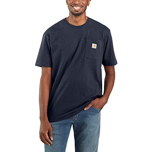 Carhartt Men's K87 Workwear Short Sleeve T-Shirt (Regular and Big & Tall Sizes), Navy, XX-Large
