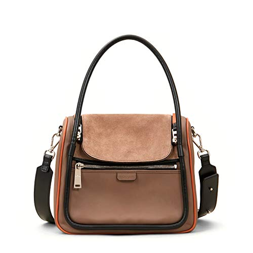 Hogan Borsa Bauletto Boston in Pelle e Suede Marrone - KBW01HH0300 OJC7A82 - Taglia