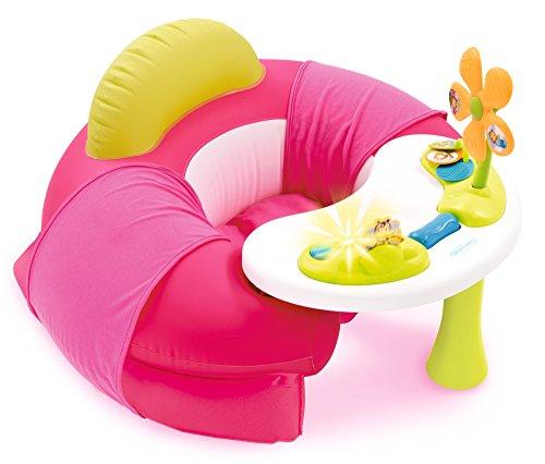 Smoby Cotoons 110211 - Asiento infantil con mesa de actividad, color rosa