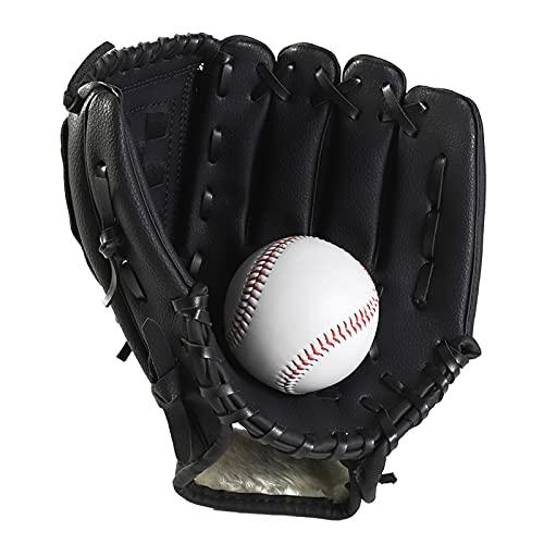 WZDTNL Guante de béisbol espesado, guante de softbol profesional portátil duradero, guantes de bateo deportivos para práctica de competencia