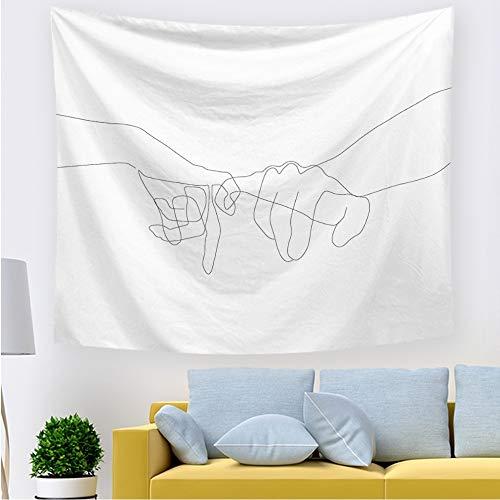 Kinntn Wandtapijt, eenvoudig design, haken, motief handtapijt, voor huis en woonkamer, slaapkamer, sprei, decoratief, yogamat 150x200cm