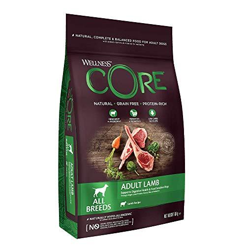 Wellness CORE Adult Lamb, Hundefutter trocken getreidefrei, hoher Fleischanteil, ohne künstliche Zusatzstoffe - Lamm, 10 kg