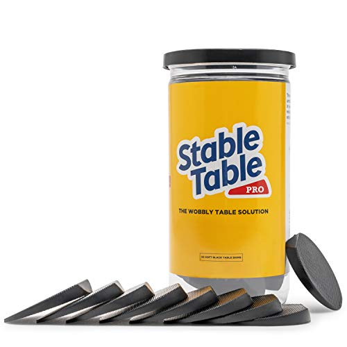 Stable Table - Black Restaurant Table Leg 30 Shim Wedges Premium Furniture Levelers Restaurant Table Shims, Home Improvement DIY Levelers - Rubber Type Texture, Firm, Non-Slip, Doors, Tables and More
