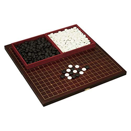 DEF Classic Go Chess Game Set, mit Doppeltablett und zusammenklappbarem MDF Go Board Chess Go Game Board, Geschenke für Kinder und Jugendliche Strategiespiel (Color : Go Chess)