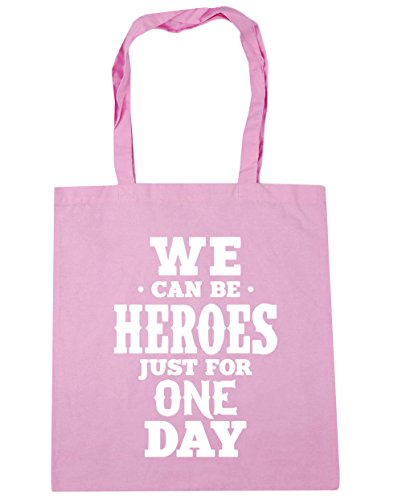 HippoWarehouse We Can Be Heroes For Just One Day Tote Shopping Gym Beach Bag 42cm x38cm, 10 litres