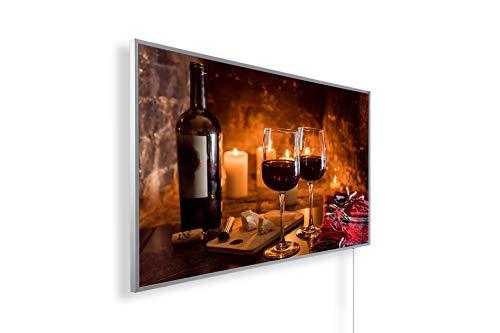 Könighaus Fern Infrarotheizung – Bildheizung in HD Qualität mit TÜV/GS - 200+ Bilder - 800 Watt (170. Wein und Käse)