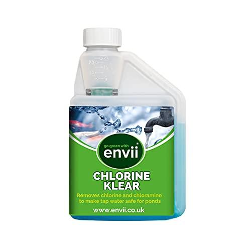 Envii Chlorine Klear – Decloratore per Acqua e Laghetti, Rimuove il Cloro dall'acqua del rubinetto ed è sicuro per i pesci , tratta 12500 L