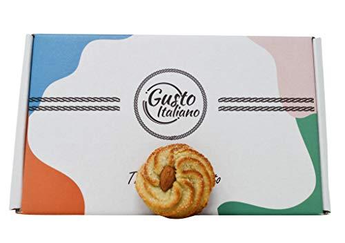 Paste di Mandorla Siciliane in Box Regalo da 600 grammi Artigianali Pasta Di Mandorle Confezionate Singolarmente