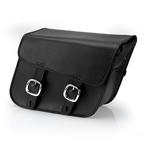 Nomad USA Leather Slanted Large Motorcycle Saddlebags w/ Quick Release Buckles