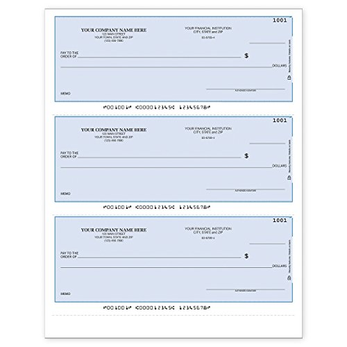 CheckSimple 3-Per-Page Business Checks, Lined Checks - Compatible with Intuit QuickBooks Software (250 Qty) - Custom