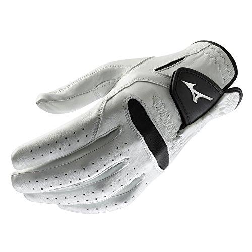 Mizuno 2018 Pro Men's Golf Golf Glove, Left Hand, White/Black, Medium/Large
