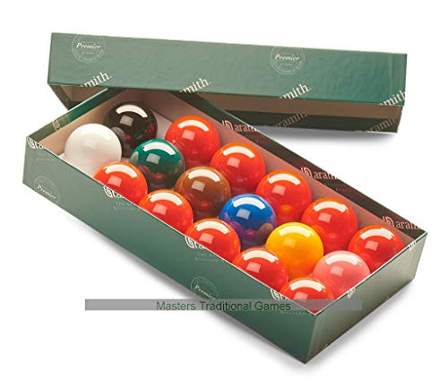 Aramith Snooker Balls (1 and 3/4 inch, 44mm, with 10 reds) by Aramith