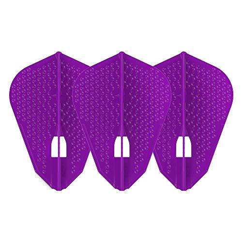 LSTYLE Dart Flights: L9d PRO Fantail-Form – Dimple Textur – für Soft-Dartpfeile und Stahlspitzen – Deep Purple