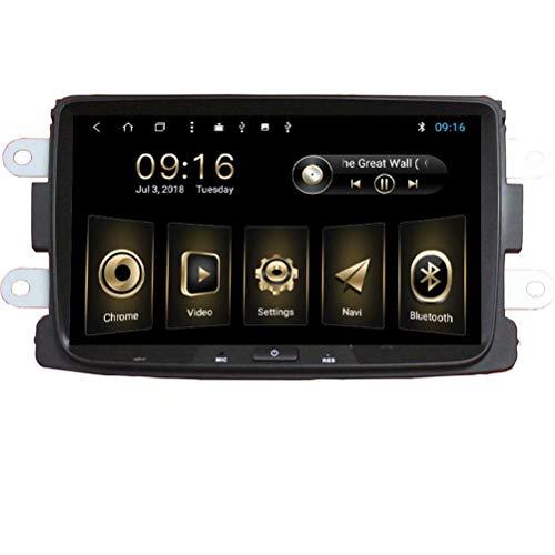 TOPNAVI pour Renault Dacia 2012 2013 2014 2015 2016 2017 9 Pouces Android 8.1 Voiture Radio Radio Navigation avec 2 Go de RAM GPS WiFi 3G RDS Lien Miroir FM AM Bluetooth Audio Vidéo