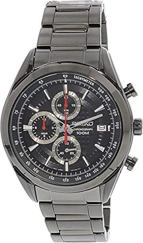 Seiko SSB179P1 - Reloj de cuarzo para hombre con correa de acero inoxidable, color negro