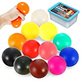 Sensory Stress Ball Set, 12 Pack Soft Sensory Toys, Fidget Squeeze Balls, Stocking Stuffers, Colorful Anxiety Relief Toy for Kids Adults with ADHD, Autism