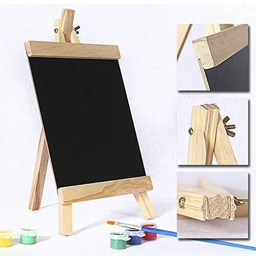 Pequeño caballete de madera con tablero de dibujo, para niños, tabla de escribir, plegable, panel publicitario, información, decoración de boda, 20 x 36 cm