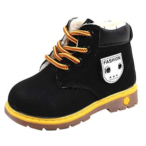 Laarzen voor jongens meisjes hoge schoenen met fleece waterdichte lederen schoenen warme winterschoenen kinderen sneeuwschoenen antislip outdoor schoenen jongens kruipschoenen loopschoenen rubberen zool sneaker 21-30