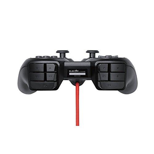 『ELECOM ゲームパッド 24ボタン ハードウェアマッピング対応 高耐久スイッチ ブラック JC-DUX51BK』の2枚目の画像