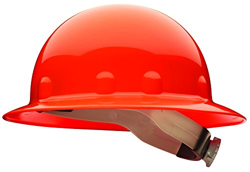 Honeywell Home Fibre-Metal by Honeywell SuperEight Thermoplastic Full Brim Hard Hat with 8-Point Ratchet Suspension, Orange