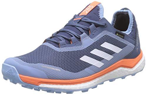 adidas Damen Terrex Agravic Flow GTX W Cross-Trainer, Blau (Tech Ink/Glow Blue/Hi/Res Coral Tech Ink/Glow Blue/Hi/Res Coral), 43 1/3 EU