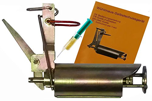 Selbstschuss Apparat / Gerät gegen Wühlmäuse Wühlmausfalle neueste verbesserte Version aus 2014.