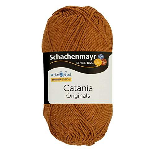 Schachenmayr Catania 9801210-00383 zimt Handstrickgarn, Häkelgarn, Baumwolle