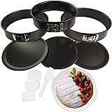 Hausfelder Springform Set 8-teiliges Kuchenform Tortenform Set mit passendem Gitter und Spachteln (8-teilig)